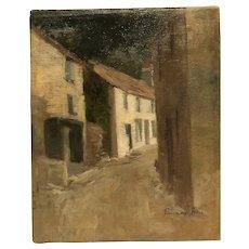 """City Street "" circa 1880 by Genevieve Allis (1864-1914)"