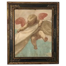 Old master painting of a cherub
