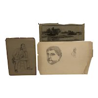 Collection of New Hampshire drawings  circa 1860's by Edwin Champeney(1842-99)