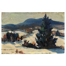 Impressionist snow scene by  listed American artist  Mary S Spencer
