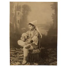 Rare 1880s original photograph young Jewish woman from North Africa