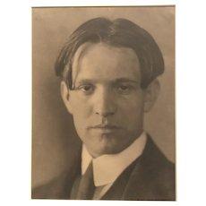 1905 Silver gelatin photo Portrait of a young gentleman by Eva Watson-Schultz