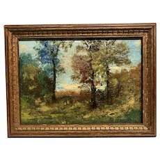 """Circa 1900 Signed """"On the way to Plymouth Vermont"""""""