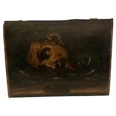 Spanish/Italian school 16 century original oil painting the head of Saint John the Baptist