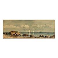 Thomas R Waite (1861-1919) New Haven Connecticut artist  coastal seascape