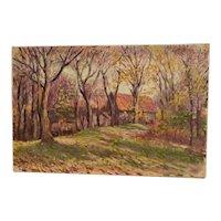 "Circa 1920 American school ""Landscape,Fall colors """