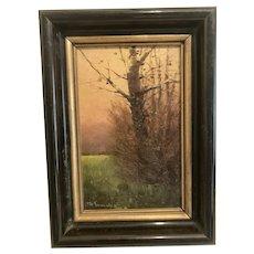 1911 impressionist oil German artist Max Treaenreiter