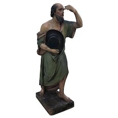 """The wandering apostle ,Circa 1830-40 Spanish school 46 """" carved wooden sculpture"""