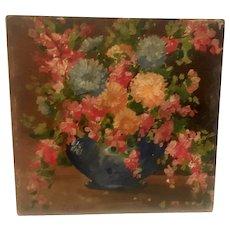 Circa 1920s American impressionist painting signed LR Elliot