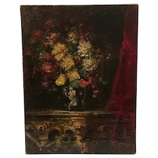 Circa 1920 impressionist still life by listed Italian artist Luigi Comolli (1893-1976)
