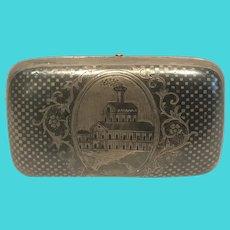 Russian Imperial  84 silver and niello  snuffbox circa 1870