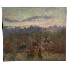 Rare topographical view of Sydney Australia ,1912 by listed Jewish Polish Australian artist J Wolinski