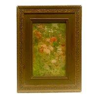 "American Art nouveau watercolor ""Garden with black eyed Susan's"" circa 1895 by Lizbeth C Hunter (1868-1948)"