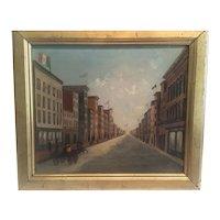 "American circa 1850-60 Folkart ""  International street scene celebration"""