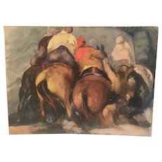 "Original  Study for ""The  Flood "" By well listed  American artist Jon  Corbin"