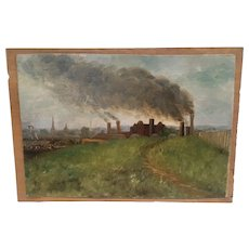 "Well listed Provincetown artist Ernest Perry ""The Factory "" circa 1920-40"