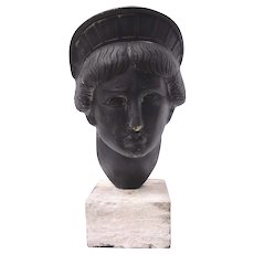 "Bronze Sculpture ""Face of Liberty "" by listed artist Gabriel Grun Yantorno"
