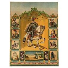 Antique circa 1900 poster Lithuania