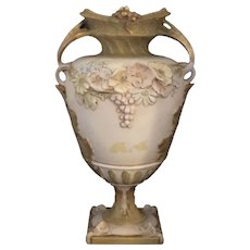 Pair of Royal Dux Bohemia Vases Urns # 5295