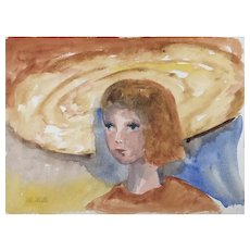 Watercolor By artist Marge Mills 1932-1996