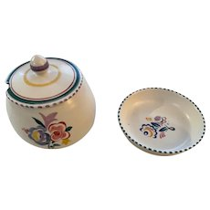 Vintage Group of 2 Poole Pottery Pieces, from England circa 1950's