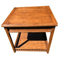 Vintage Guy Chaddock Side Table With Gallery Shelf and 1 drawer