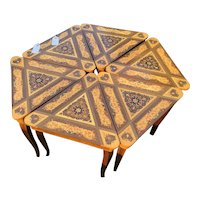 Vintage Coffee Table composed of 6 Italian Tables with Storage and Music Boxes (5)