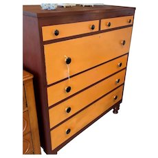 Antique Country Cherry Dresser 2 over 4 Drawers