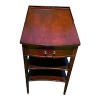 Vintage Mersman Mahogany Stand with drawer and 2 Shelves circa 1960-80's