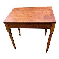 Antique Flip Top Desk with inside storage circa 1880-1919