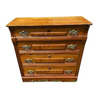 Antique Golden Oak 4 Drawer Dresser Imported by Herrmann Bureau Co
