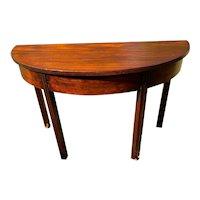 Antique Mahogany Demi-Lune Table Circa 1860-1880's