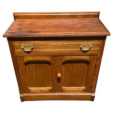Vintage Pine Wash Stand with drawer and storage circa 1920-1940's