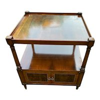 Vintage Square Side Table with Shelf and Storage circa 1960-80's