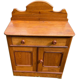 Vintage  Pine Wash Stand with 1 drawer, 2 doors and 1 shelf Circa 1900-1940's