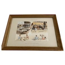 Antique Pencillings Print by William Lloyd - Sports and Race Meeting