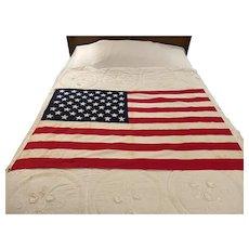 Vintage US Flag 50 States by Sherritt Flag Co (Medium Size) Circa 1980's