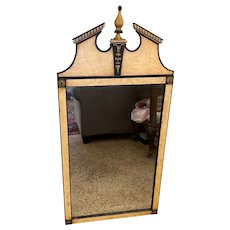 Vintage Neo Classical Wall Mirror By Mt Airy Mirror Co, NC dated 9/29/1982