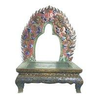 Antique Copper and Enamel Buddhist Shrine