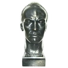 Nancy Cox McCormick Portrait Bust of Charles Haubiel dated 1929
