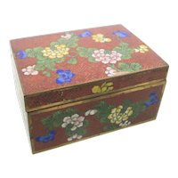 Antique Chinese Enamel Hinged Box