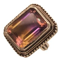 Ametrine and Sterling Silver Steven Dweck Ring