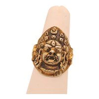 Tibet Tribal Mahakala Silver Ring