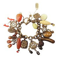 Stephen Dweck Jewelry Charm Bracelet With Various and Multiple Stones