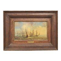 Peter Monamy  18th Century  British Painting  Warships at Sea