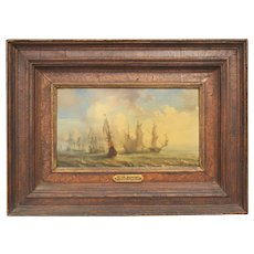 Peter Monamy Oil Painting Ships 18th Century