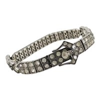 Sterling Silver and Paste Art Deco Bracelet circa 1920