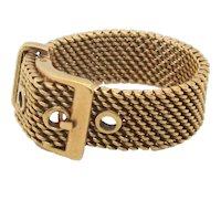 Adjustable Buckle Ring in 18k. Gold Italian