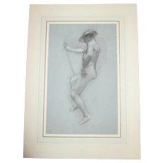 Adolf Hiremy-Hirschl Drawing for Hermes Psychopomps Circa. 1898
