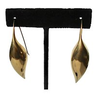 Ted Muehling Sterling Silver 925 Gilt Drop Earrings